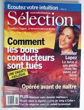 SÉLECTION DU READER'S DIGEST DE NOVEMBRE 2003, EN COUVERTURE JENNIFER LOPEZ
