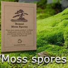 Moss spores / seeds for house plants, bonsai tree, garden, pond edge, Terrarium