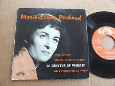"""DISQUE 45T DE MARIE-CLAIRE PICHAUD  """" LE LANCEUR DE PIERRES """""""