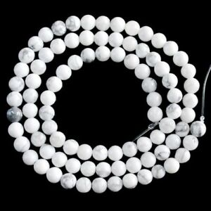 V2609-t 4mm Howlite Turquoise Ball Loose Beads 15.5""