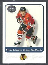 2001 Fleer Greats of the Game Hockey - #24 - Steve Larmer - Chicago Blackhawks