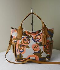 Fossil Floral Emerson Satchel