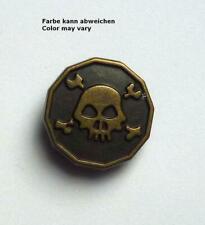 1 Tête de Mort Métal avec Œillet 20 MM Laiton Antique
