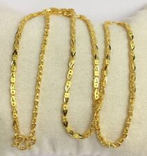 Pure 24k Solid Gold Shiny Chain Necklace. 18 Inches. 10.84 Grams