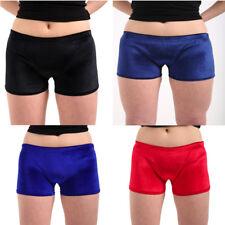 Ladies Women Velvet Elasticated Shorts Hot Pants-Luxury Look