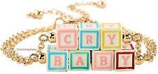 "Melanie Martinez ""Cry Baby"" Block Letter Necklace Set"