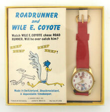 1972 Roadrunner & Wile E. Coyote Character Watch by Lafayette in Original Box