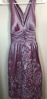 Adrianna Papell Sz 4 Purple Irridescent Dress Formal Holiday Dance NYE Nordstrom