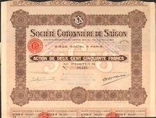Société COTONNIÈRE de SAÏGON (INDOCHINE) (I)