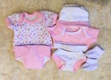 MY FIRST BABY ANNABELL CLOTHES LAYETTE 12-14 INCH PINK GIRL DOLL REBORN