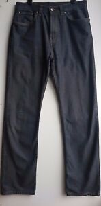 M&S Men's Grey Green Blue Harbour STAY DARK Luxury jean trousers Size W 30/L 33