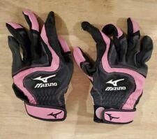 Mizuno Womens Size Medium Finch Batting Gloves Black / Pink