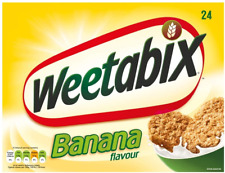 Weetabix Banana Cereal, 24 Biscuits Pack of 5, total of 120 biscuits