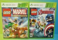 LEGO Avengers + Marvel Super Heroes - XBOX 360 Games Rare Lot Tested Working