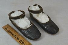 antique shoes child baby early leather 19 thc pre Civil War original vg