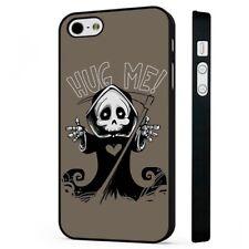 Grim Reaper Funny Hug BLACK PHONE CASE COVER fits iPHONE