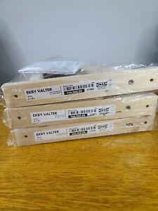 "Set of 3 -IKEAEKBY VALTER 7 1/8"" x 9"" Wall Shelf Bracket Solid Wood"