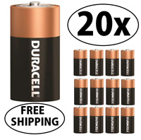 20 NEW DURACELL COPPERTOP Size C Alkaline Energized Batteries FREE SHIPPING