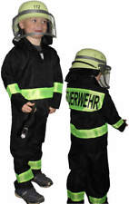 Feuerwehruniform Feuerwehr Karneval Kinder Kostüm + Feuerwehrhelm 140