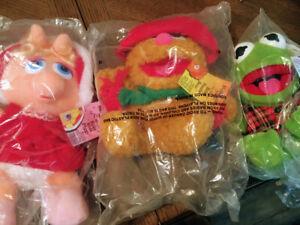 3 Holiday 1987 McDonalds Muppet Babies Kermit Miss Piggy Fozzie Christmas