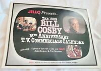 1989 Calendar Jello Pudding Advertising Bill Cosby 15th Anniversary Commercials