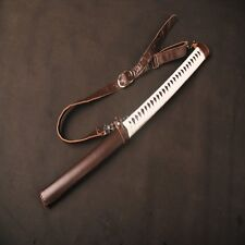Michonne Walking Dead Brown Cow Leather Saya Sheath For Japanese Katana Swords