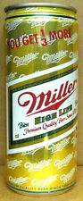 MILLER HIGH LIFE BEER YOU GET 1/3 MORE 473ml CAN Carling O'Keefe Brwy, CANADA 1+
