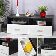 Lowboard Weiß Schwarz Sideboard Regal TV Tisch Highboard Wohnwand Fernsehschrank