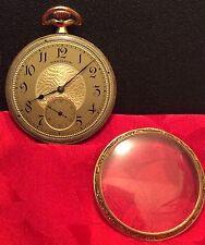 1921 Hamilton Pocket Watch Model 910 - Gold-Filled Fulton Case, Size 12, Runs