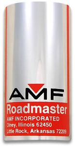 AMF Roadmaster Bike Badge - adhesive backed Polished Aluminum