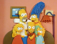 """""""Prime Time Tv"""" The Simpsons 3-D Sculpture By Tim West - Brand New Still In Box"""