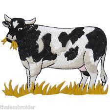 Cow Farm Bull Milk Grass Zoo Animal Cartoon Kids Children Iron-On Patches #A002