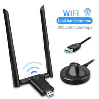 1200Mbps AC1200 USB3.0 Wireless Dual Band 2.4G/5.8G WiFi  Adapter Antenna//