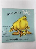 Vintage Pop Up Hallmark Easter Card to Dad Duck Duckling Original Envelope