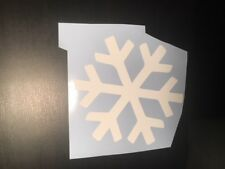 Snowflake Car Decal WHITE 100mm