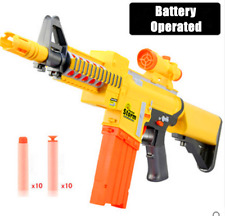 Nerf Style Toy Gun Blaze Storm Kids Toy Soft Dart Machine Bullet Battle Battery