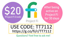GOOGLE PROJECT FI CELL SERVICE $20 PROMO CODE TT7112 NEW CUSTOMER ONLY