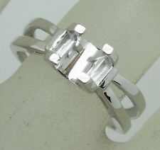 6.0x6.mm Round Shape 925 Sterling Silver Semi Mount Ring Jewelry Free Shipping