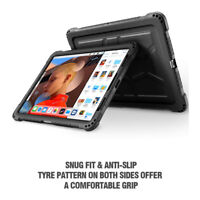 For iPad Pro 11 Poetic [TurtleSkin] Grip Protective Silicone Case Cover Black