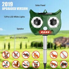 Solar Ultrasonic Pest Animal Repeller LED PIR Motion Bird Cat Rat Dog Repellent