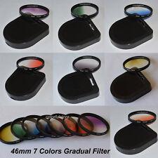 46 46mm Graduated Gradual Red Purple Green Orange Yellow Blue Grey Lenses Filter