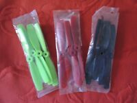 """3 LOT 12 Hélices DIATONE 6"""" X 4,5 BULL NOSE bipales DRONE FPV RACER 3 couleurs"""