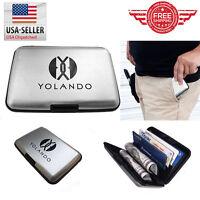 Business ID Credit Card Wallet Holder Aluminum Metal Pocket Case Box CH0001