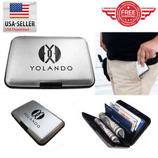 Business ID Credit Card Wallet Holder Aluminum Metal Pocket Case Box CH0001