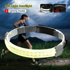 COB LED Headlamp USB Rechargeable Headlight Head Lamp Torch Light Night Riding