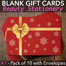 Christmas Gift Vouchers Blank Beauty Salon Card Nail Massage x10 A7+Envelope RG