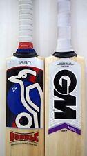 "New Model Pack of 2 Pcs GM MOGUL + KOOKABURRA BUBBLE ""Free Shipping""Cricket Bats"