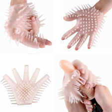 Silicone Spike Teeth Glove Couple Palms Massager Adult Comfortable Sex Toy NEW