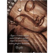 Décoration murale en bois à suspendre Zen 30 x 40 cm
