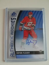 2017-18 SP Game Used Hayden Fleury Authentic Rookies Autograph HURRICANES